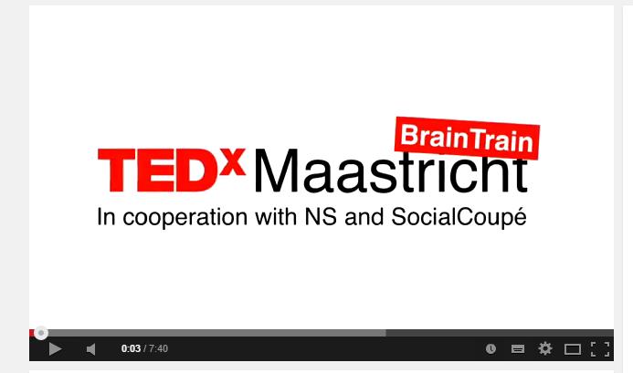 Janne was a speaker at TEDx Maastricht!