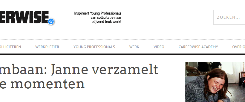 How to find your dream job? Janne gives some tips for careerwise.nl