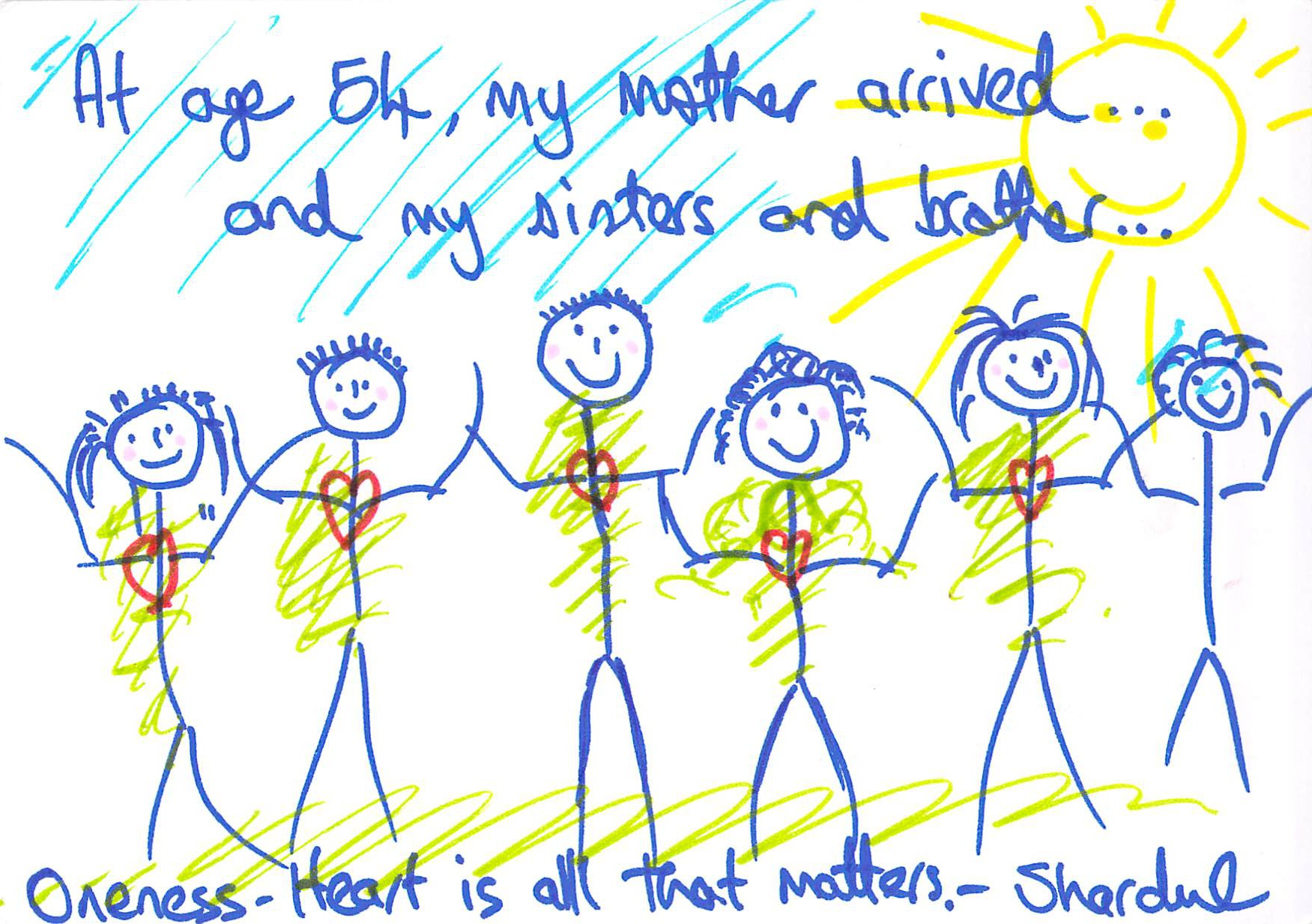 """""""At the age of 54, I meet my mother, my brother and my sisters for the first time."""""""