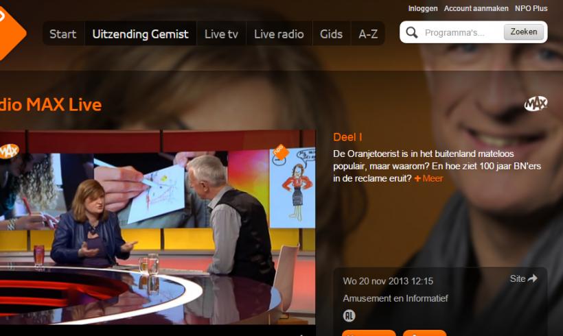 Janne was guest on Dutch tv-show: studio Max Live!