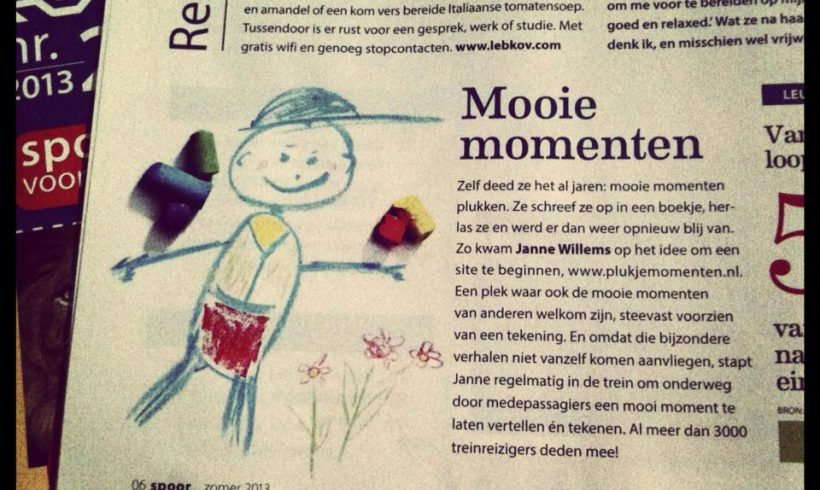 """Over 3000 moments collected in trains"" – an interview in Dutch Rail magazine"