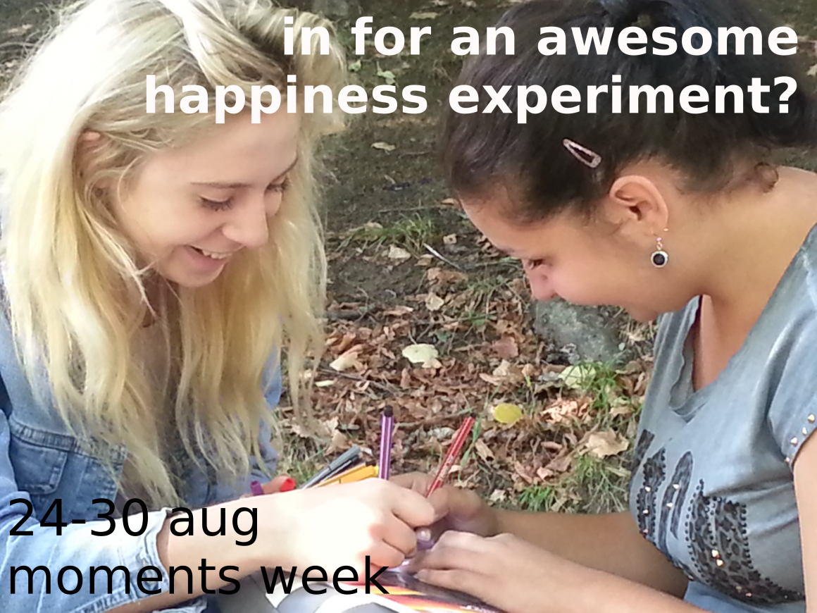 Are you up for an awesome happiness experiment? Join the Moments Week!