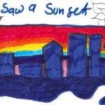 I saw a sunset